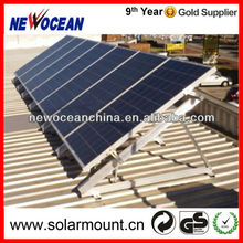 metal roof triangle aluminum solar panel mounting frames