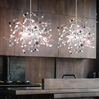 Modern minimalist plating irregular steel lamp Chrome color led G9 pendant lamp