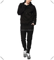 Muscle Fit stylish men Tracksuits100% Cotton Wholesale Mens long streetwear Sports Hoodies Jacket and joggers sweatpants