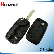 Horande for Renault flip remote key cover with 3 buttons with logo car key