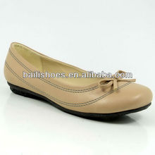 2014 new design Round toe rubber soles lady shoes flat shoes