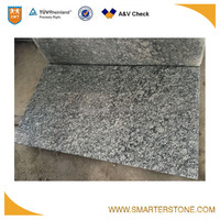 Water wave 30mm thick black granite slab for island top