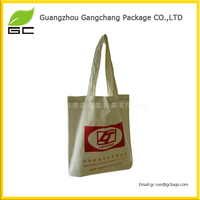 Free sample deep price custom canvas tote bag printing leather handle