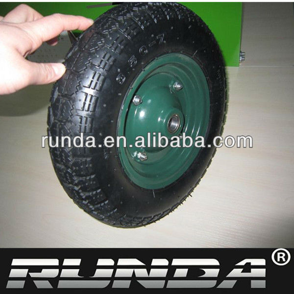 steel rim with ball bearing wheelbarrow wheels