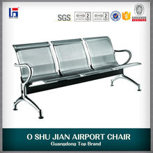 2016 stainless steel three seater airport chair