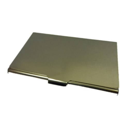 Hot new simple gold metal  business card holder case