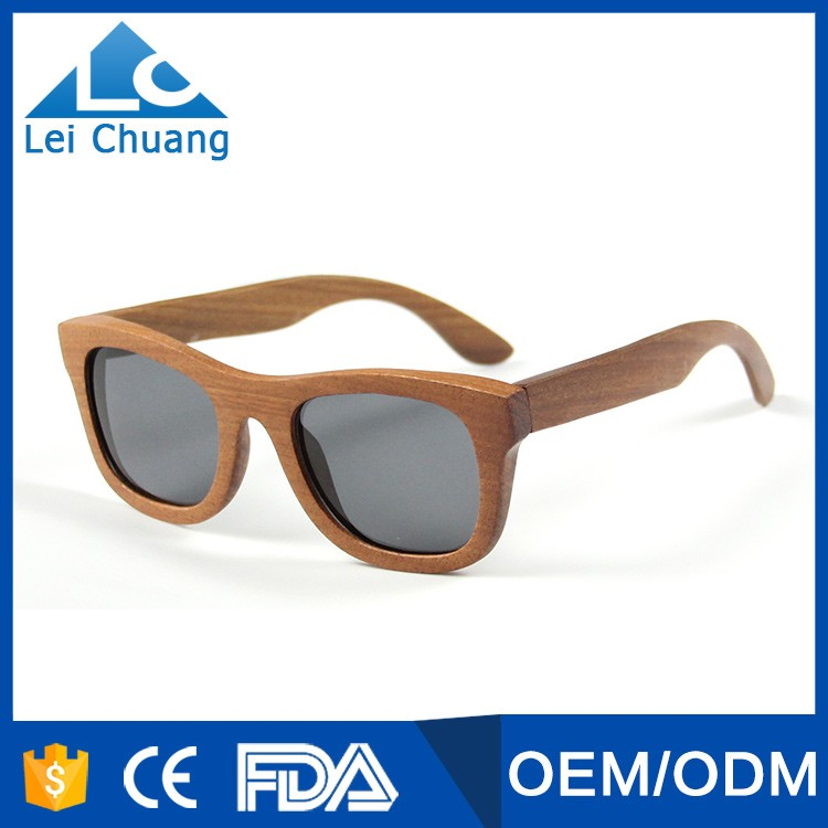 2016 hot selling high quality polarized wooden sunglasses wholesale in china