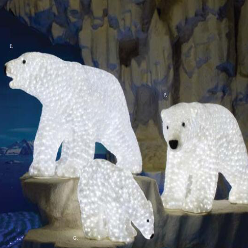any models can be customized - Outdoor Polar Bear Christmas Decorations