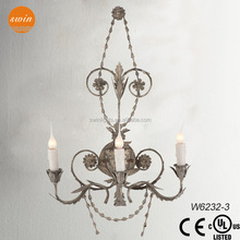hot sale european style iron flowers wall lamp/ led wall bracket light fitting
