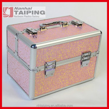 Pink Professional Beauty Case Sunrise Beauty Case Tiered Cosmetic Case