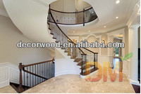 Luxury Spiral Design Customized Wood Stairs from guangzhou