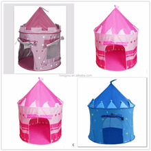Kids Pink Princess Castle Play Tent Girls Indoor Outdoor Folding House Tent