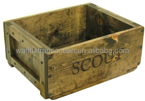 2017 hot selling, dog toy box, rustic vintage wooden crate, farmhouse decor