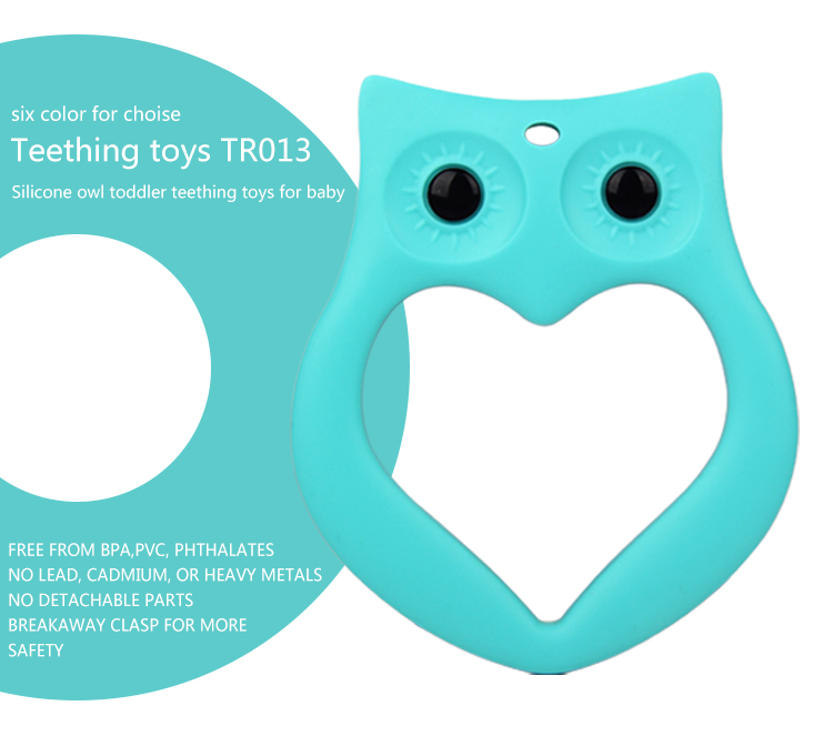 Top sale owl teether teething soothers baby teething chew baby teething toy