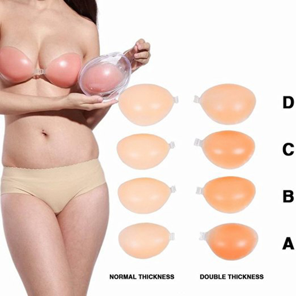 Multipurpose Breast PushUp Self-Adhesive Invisible Silicone Strapless Bra