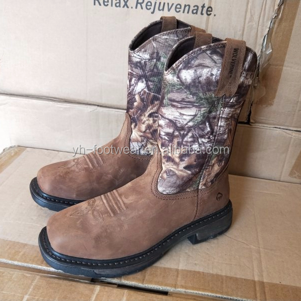 Camouflage Jungle Boots Steel Toe Heavy Work Boots for sale