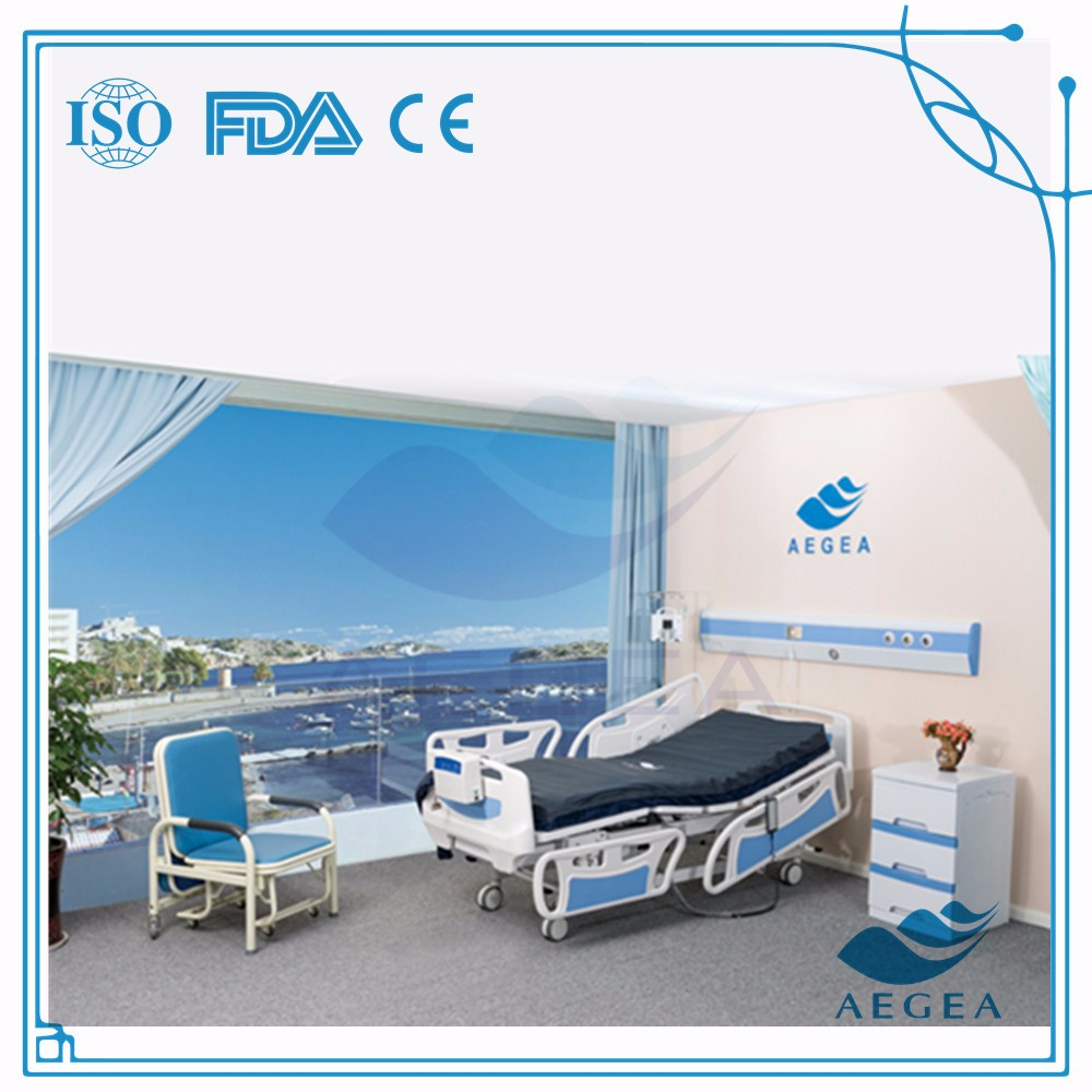 AG-BY003C nursing home supplies medical equipments ICU electric motor ABS hospital bed prices