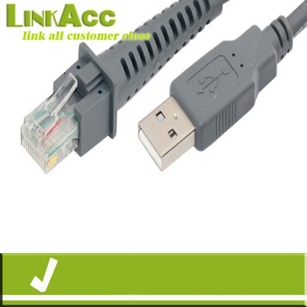 Linkacc-NC1 USB A male to RJ45 Cable 7ft 2M for Symbol Barcode Scanner LS4278 LS2208 2208AP cable