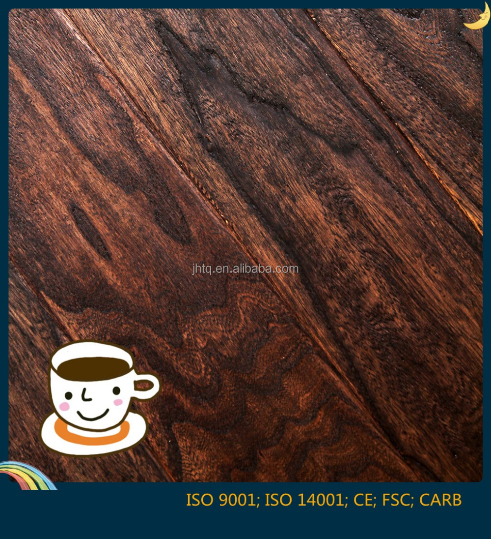 Latest Innovative Elm Embossed Solid Wood Flooring Multilayer