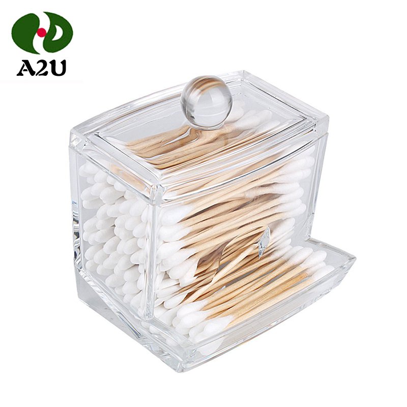 Customized Eco-Friendly Disposable Medical Square Plastic Box Cotton Buds