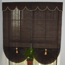 manual bamboo window cover roman blinds decoration for home