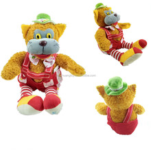 battery operated toy singing plush toy cat