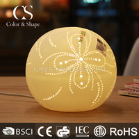 Best selling round ball porcelain table lamp wholesale