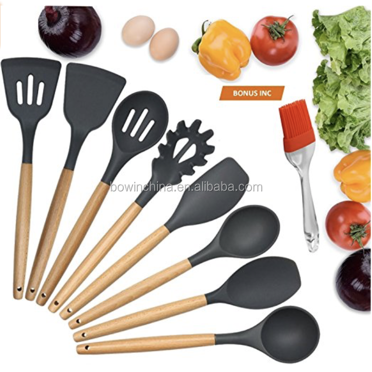 8pcs silicone kitchen utensil <strong>set</strong>