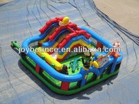 inflatable mini playground,jurassic inflatable fun city amusement park