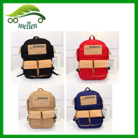 Wholesale new fashion modern canvas backpack for College