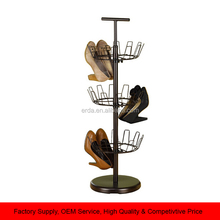 Revolving Metal Shoe Rack Home Shoe Storage Holder