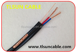 high quality siamese cable coaxial rg59 with 2 power camera cable