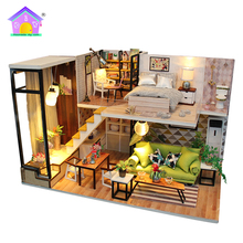 Miniature store diy handcraft miniature kit educational wooden toys doll house