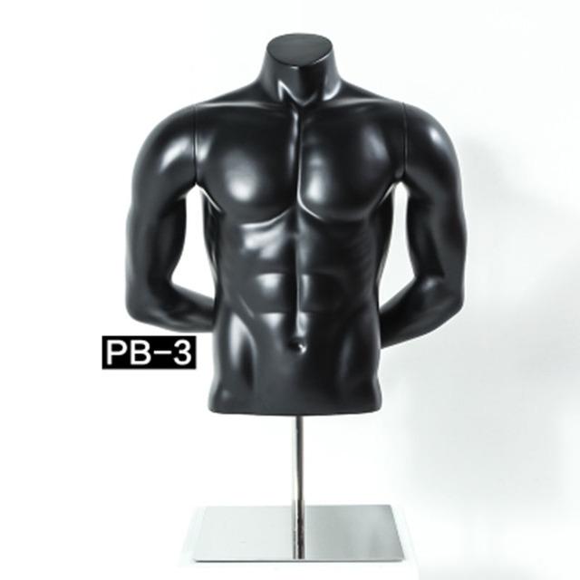 Running Sports Men Women Half Upper Body Muscle Mannequin Display
