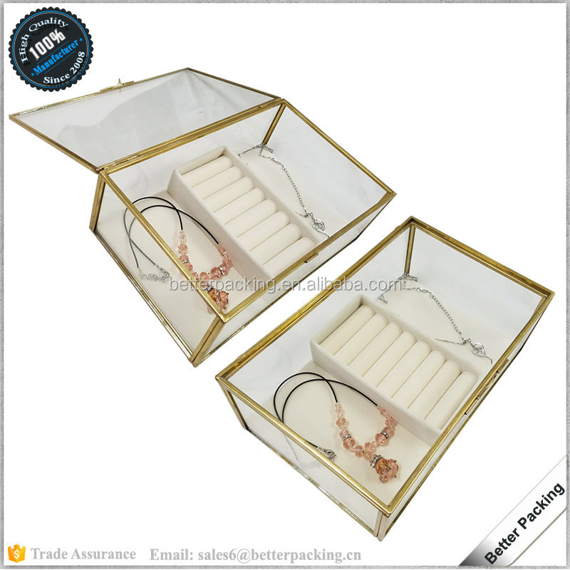 JPB329 Custom Packaging Box Glass Terrarium Glass Container for Jewelry Display
