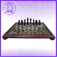 Light finish rose wood with camphor frame large chess game set