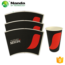 Colorful Printed Paper Cup Fans With PE Coated for beverage