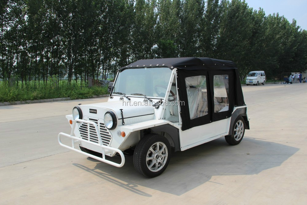 factory supply China cheap 4 wheel pure electric car with 4 seats , with A/C