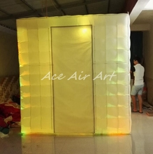 hot sale outdoor led cube tent top quality inflatable photo booth/ wedding decoration
