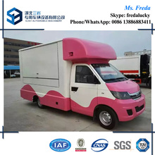 China small 4x2 mobile fast food truck for sale