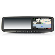 Hot seller-- Car Rearview GPS Mirror Monitor/High Quality/Dropshiping/ Bluetooth Car Mirror