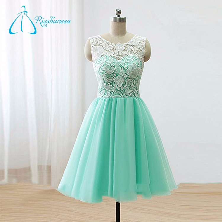 Lace A-Line Custom Prom Dresses Short Made In China