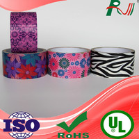 Alibaba hot trendy 2015 beautiful design printed colored duct tape for packing