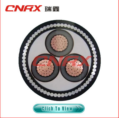 Made in China ruixin group 0.6/1 kv Cu / AI conductor XLPE Insulated PVC / PE Sheath 3 Core Power Electrical Cable