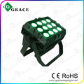 IP65 waterproof wireless Battery 12pcs 12W 6in1 rgbwauv wall washer led dmx flood light