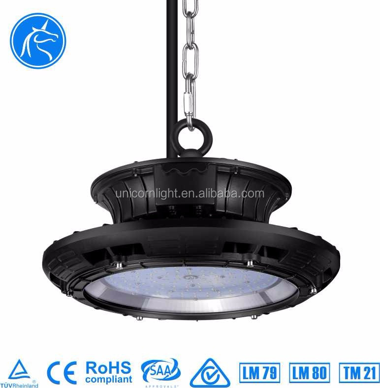 Shenzhen Unicorn Wholesale Factory Price 5 Years Warranty 100W SMD Chips IP65 TUV SAA CE ROHS Approval 150W LED High Bay Light