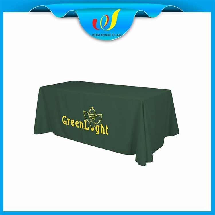 Wholesale Promotion Advertise Event Advertising Commercial 300d Custom Logo Polyester Table Cloth