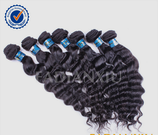 Deep curly wholesale 100% exotic raw unprocesse brazilian remy hair hot sale brazilian wave human hair