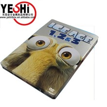 Plain rectangle CD/DVD tea gift CMYK tin box