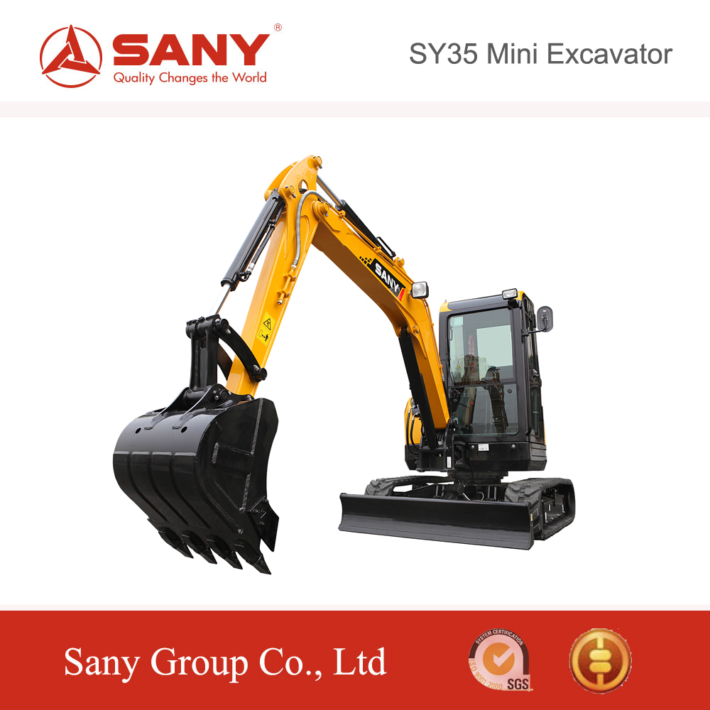 SANY Official Manufacturer SY35 3.5 Tons Mini Mobile Excavator for Sale in bc